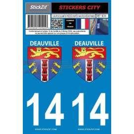 Autocollants de plaque ville de Deauville