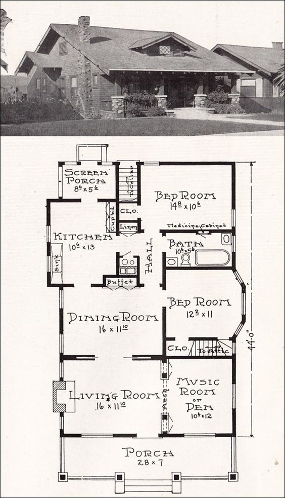 c1918 Stillwell - REpresentative California Homes - No. R-846