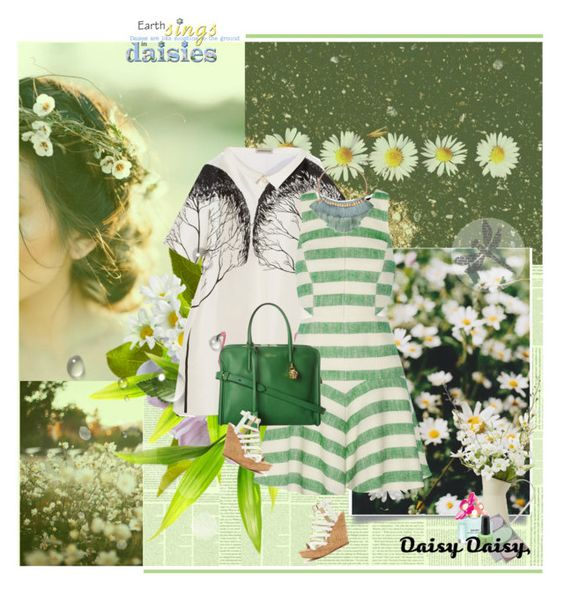 """""""Daisies"""" by rainie-minnie ❤ liked on Polyvore featuring GE, Vika Gazinskaya, TIBI, Linea, Carved Solutions, Marc Jacobs, Alexander McQueen, Steve Madden, AlexanderMcQueen and lovely"""