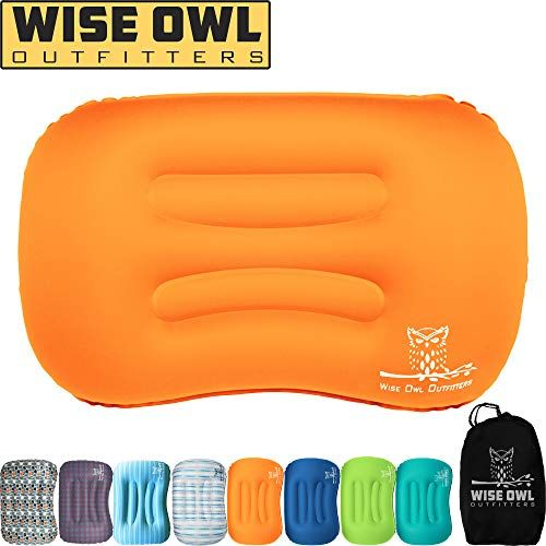 Wise Owl Outfitters Ultralight Inflatable Air Camping Pillow Compressible Compact Inflating Small Travel Pillows For Sleeping Backpacking Hammock Car Camp Beac Camping Pillows Backpacking Hammock Travel Pillow