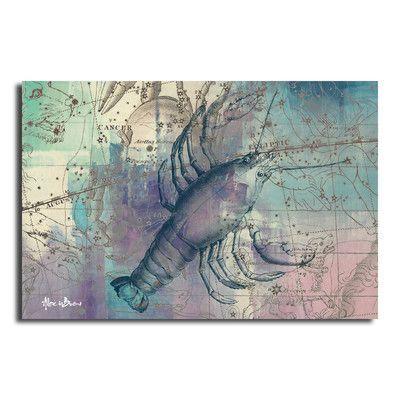 Ready2hangart Zodiac Study: Oversized Canvas Wall Art Zodiac Sign: