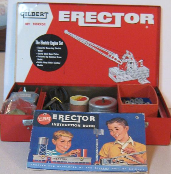 1950 Christmas Toys For Boys : Gilbert s erector set no vintage toys