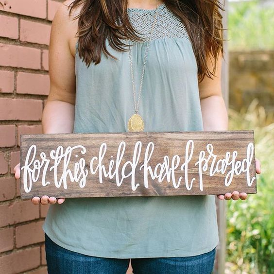 For this Child Have I Prayed, Nursery Decor, Pregnancy Announcements, Gender Reveal, Baby Shower, Infertility