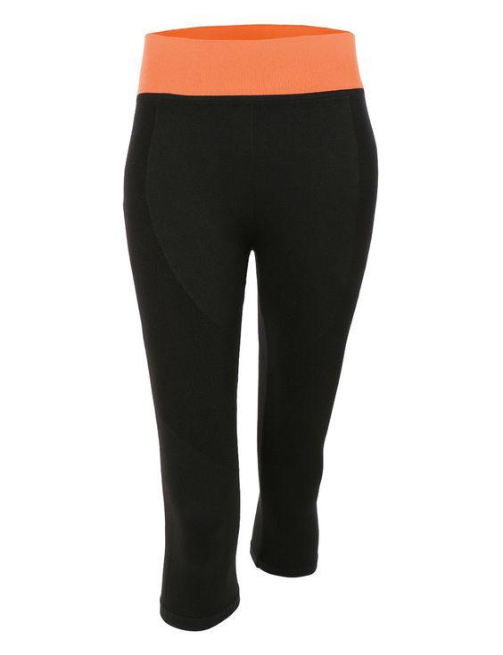 Womens Stretchy High Rise Knee Length Capri Yoga Pants | Yoga ...