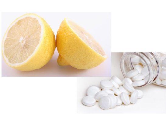 Aspirin ket hop voi chanh mat ong giup lam trang da