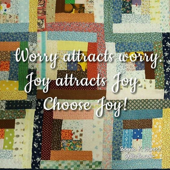 Today I choose joy! Going through my photos I'm not sure where this Scrappy Log Cabin photo came from! It doesn't really look vintage, but I love it anyway! To whomever sent it, thank you! . . #quilt #quilting #patchwork #quiltville #bonniekhunter #logcabinquilt #scrapquilt #deepthoughts #wisewords #wordsofwisdom #quiltvillequote #quote #inspiration #joy
