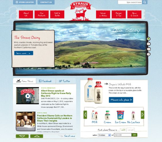 Straus Family Creamery's New Website: Learn More About Our Sustainable, Organic Story:  Internet Site,  Website, Web Site, Website Learn