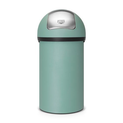 60l Push Swing Top Steel Bin Brabantia Colour Mineral Mint Garbage Can Kitchen Bin