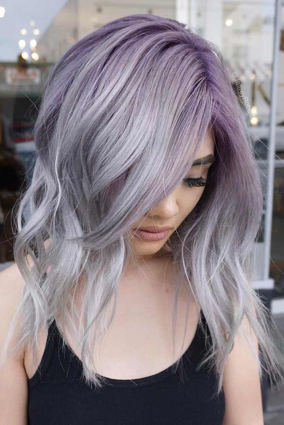 48+ Silber haare mit lila ideen