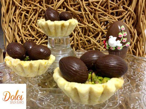Cestini Dolci Senza Burro con Uova di Pasqua - Dolci Senza Burro