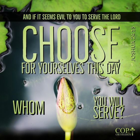 And if it seems evil to you to serve the Lord, choose for yourselves this day whom you will serve, whether the gods which your fathers served that were on the other side of the River, or the gods of the Amorites, in whose land you dwell. But as for me and my house, we will serve the Lord . Joshua 24:15 #coptorthodox #authorityinchrist #ourauthorityinchrist #chooseforyourself #chooselife #orthodox #bibleverse #bible #joshua #joshua24 #joshua24v15 #choosewhomyouwillserve