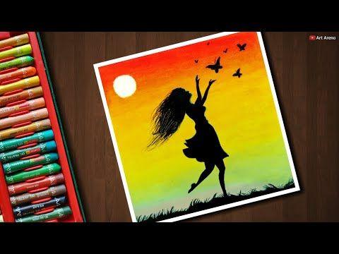 Artwork Oil Pastel Drawing Girl
