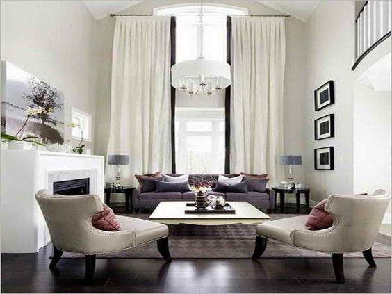 Image result for floor to length curtains high ceiling | Decor ...