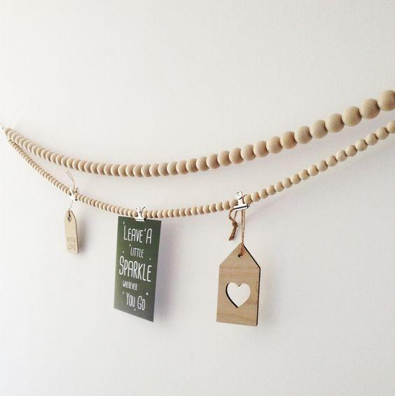 Woonketting 20mm houten kralen | By Zenz
