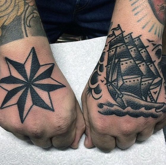 80 Nautical Star Tattoo Designs For Men Manly Ink Ideas Nautical Star Tattoos Star Tattoos For Men Star Tattoo Designs