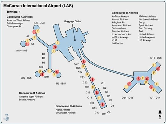 Terminal Map Las Vegas | LAS Terminal Map | Travel ...