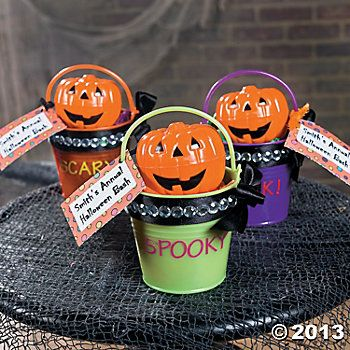 Bright Mini Pails with Ribbon - How To/Supplies