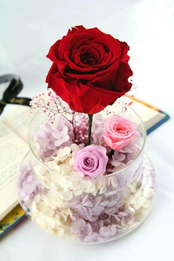 comment conserver une rose dans un vase en verre