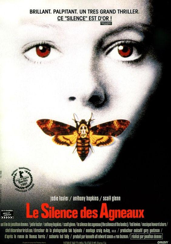 Le silence des agneaux 1991 avec Judie Foster & Anthony Hopkins.