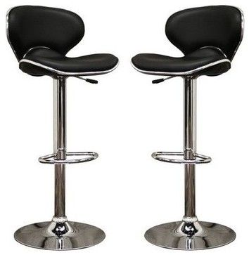 mercantila furniture. orion black faux leather modern bar stool stools and counter mercantila furniture