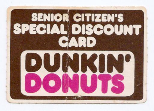 Canada Goose montebello parka outlet shop - Vintage Senior Citizen's Discount Card Dunkin' Donuts | seniors ...