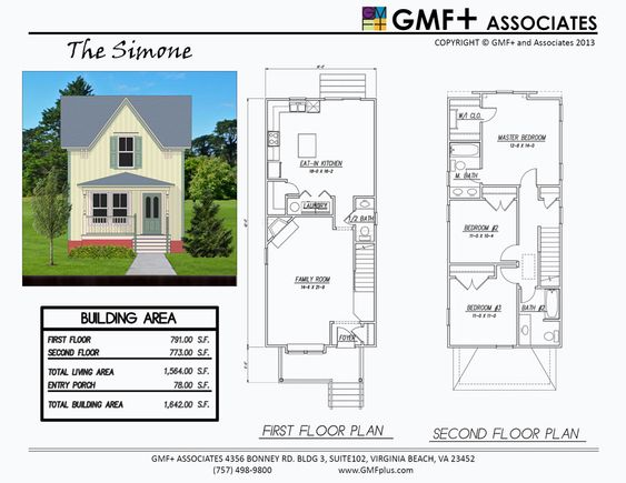The simone is a 3 bedroom house plan intended for a narrow for Multi family plans for narrow lots