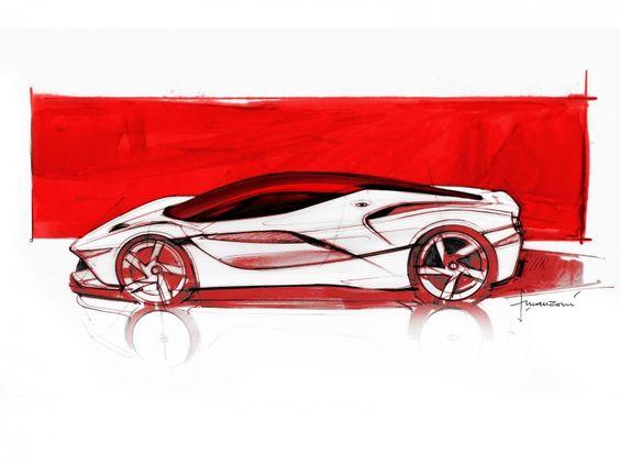 LaFerrari design Sketch by Flavio Manzoni http://www.carbodydesign.com/design-sketch-board/ferrari/recent/page/3/