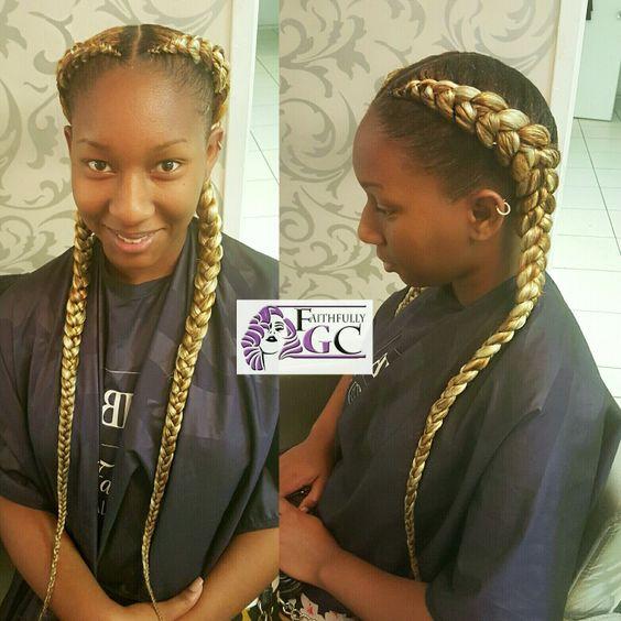 Ghana braid. IG/ Facebook /Twitter @faithfullygc