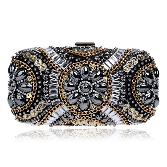 (Buy here: http://appdeal.ru/1pm8 ) New LUXURY GEM Diamond Flower Crystal Evening Bag Clutch Bags Hot Styling Day Clutches Lady Wedding Purse Bolsa De Festa 695t for just US $46.00