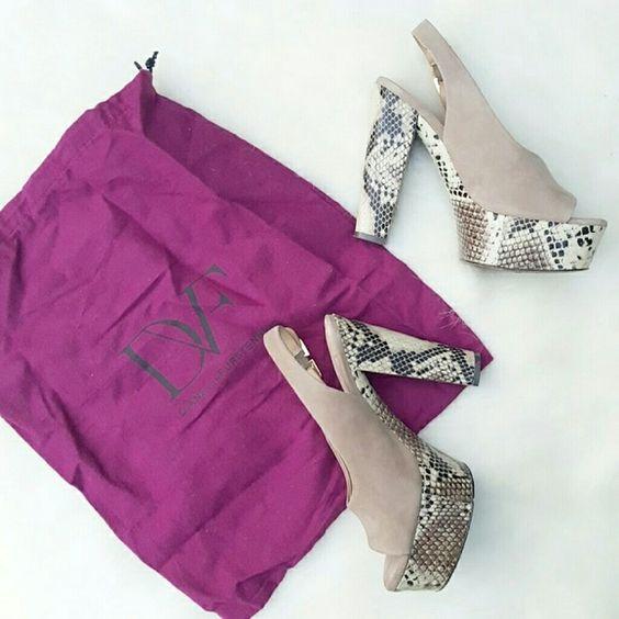 Diane von furstenberg heels Size 7, euc, retail $290 come with dustbag Diane von Furstenberg Shoes Platforms