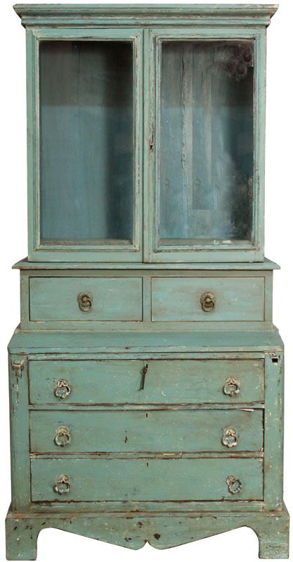 love this so much: Chalk Paint, Painted Furniture, Painting Furniture, Bookcase Painted, Antique Blue, Paint Finishes For Furniture, Painted Dressers, Painted Secretary Hutch, Furniture Painting