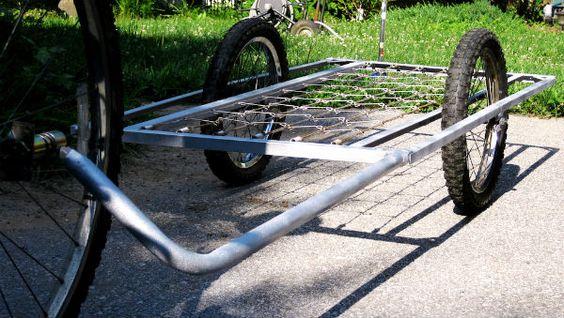 Upcycled Bed Frame Bike Trailer