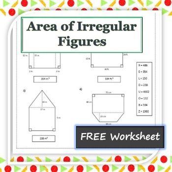 This Worksheet Has Eight Irregular Figure Problems The border=