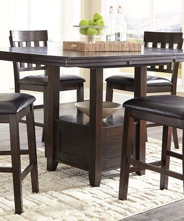 Dark Brown Haddigan Counter Table Counter Height Dining Room Tables Dining Room Table Dining Table With Storage