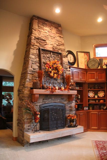Savvy Seasons by Liz: Family Room - Decorated for Fall and Autumn ...