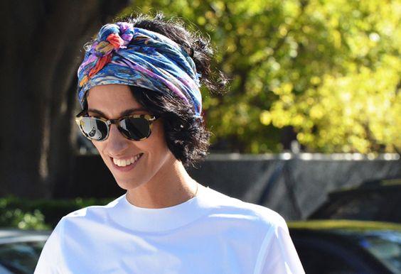 head wrap: Head Scarfs, Head Wraps, Headwrap, Fashion Week, Street Style, Hairstyle, Hair Style, Hair Scarf