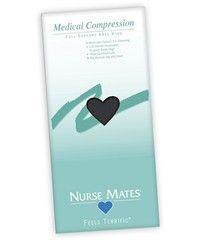 Style # LO8816: BLACK: Nurse Mates 15-20 mmHg Medical Compression Knee Highs
