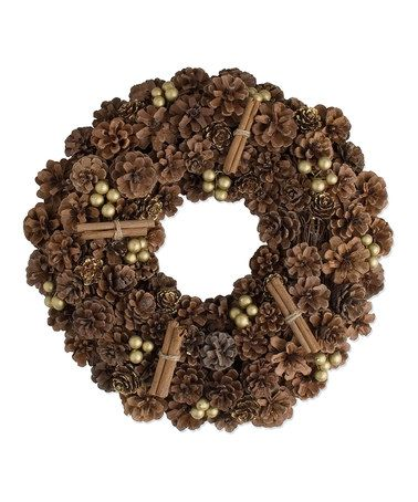 Take a look at this Pinecone Wreath by Holiday Tablescape Collection on #zulily today!