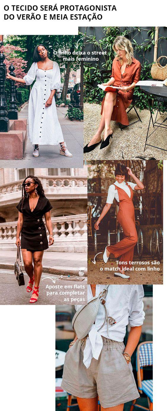 Conjuntos em linho são ainda mais femininos e funcionam perfeitamente em produções leves para os finais de semana.  linho - looks - street style - moda - comprar