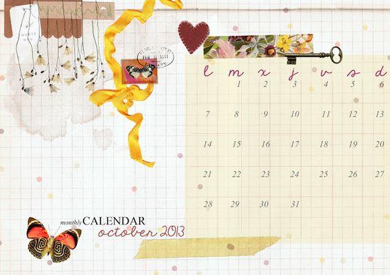 imprimible: calendario de octubre