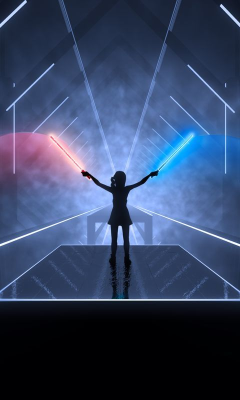 Beat Saber 8k Wallpaper For Iphone And 4k For Laptop Download Now For Free Hd 4k Games 5k 8k 2019ga Desktop Wallpapers Backgrounds 8k Wallpaper Wallpaper