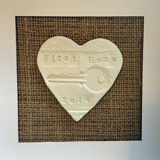 Personalised First Home Framed Gift House door TheWhiteHeartGiftCo
