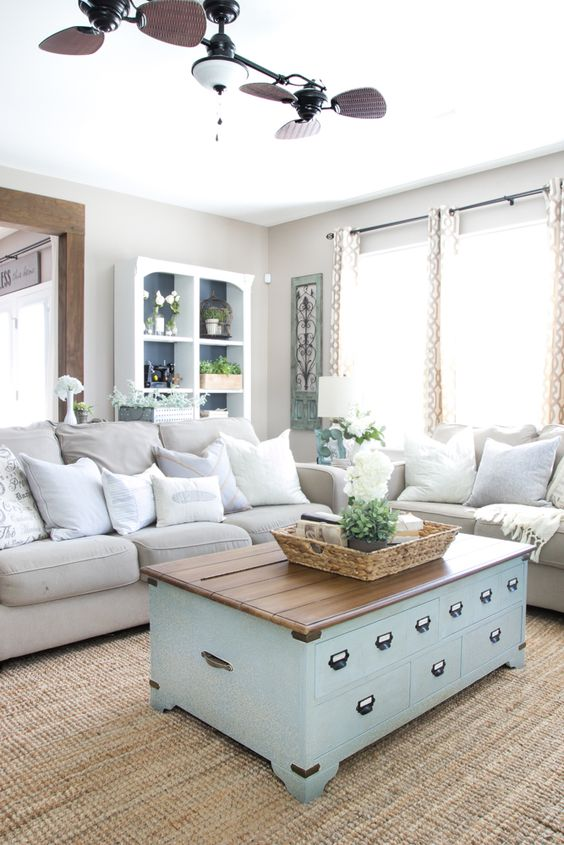 Organized Living Room Entrancing Decorating Inspiration