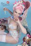 Marie antoinette lingerie blue flower by ~BlackNorns on deviantART