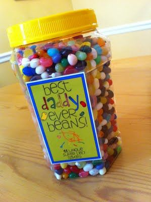 fun Father's Day treat.  Maybe on a smaller level with baby food jars?