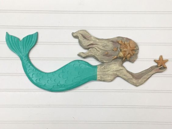 Wooden Mermaid Wall Decor mermaid/mermaid wall decor/beach decor/mermaid wall hanging/beach