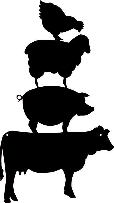 Farm animal head silhouettes - photo#18