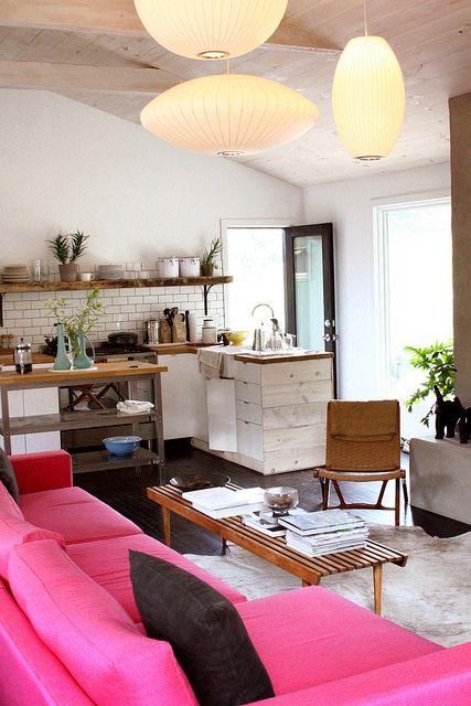 Pink sofa!! <3
