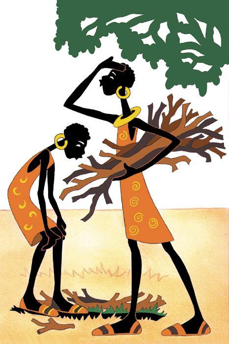 African figures   Picturebook