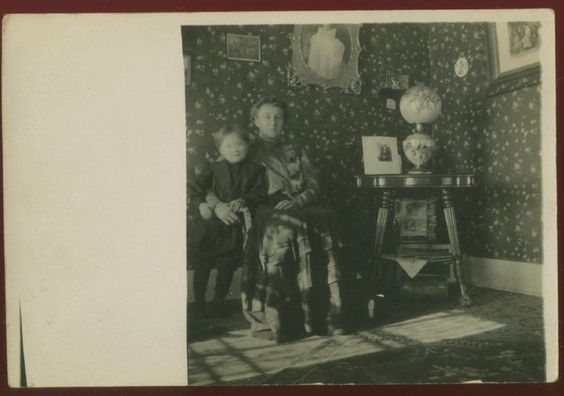 A rare glimpse of women at home in this circa 1910 real for Home decor 1910